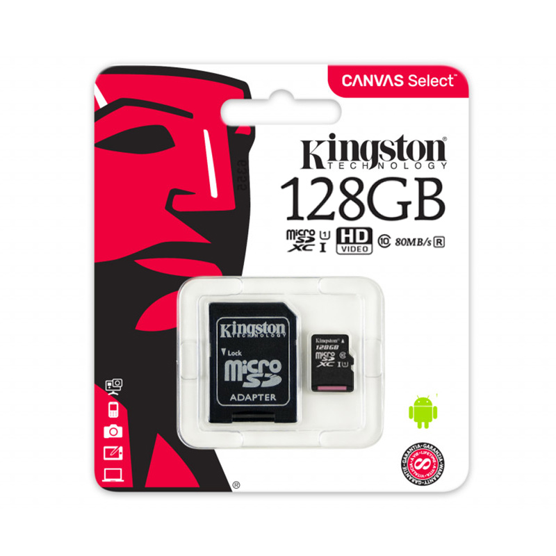 Карта памяти microSDHC Kingston Canvas Select SDCS 128GB