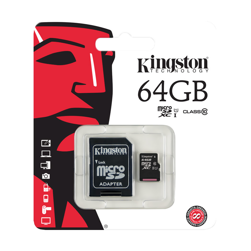 Карта памяти Kingston Micro SDXC 64GB Class 10 U1 UHS-I