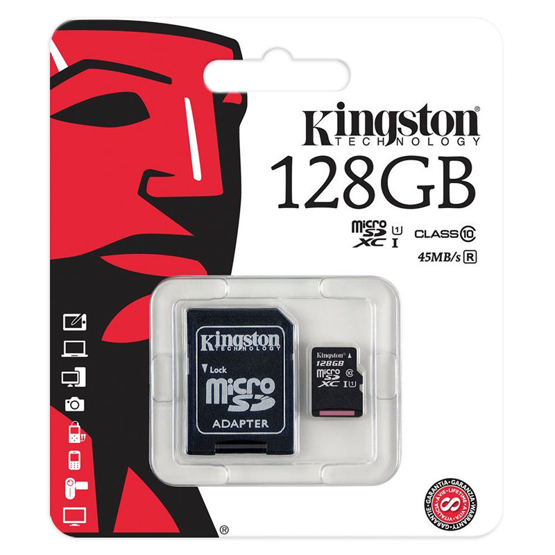 Карта памяти Kingston Micro SDXC 128GB Class 10 U1 UHS-I